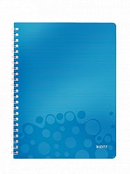 caiet-de-birou-cu-spira-a4-wow-leitz-dictando-80-coli-albastru