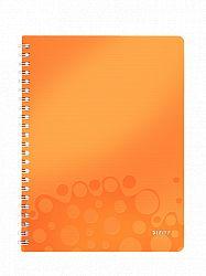 caiet-de-birou-cu-spira-a4-wow-leitz-dictando-80-coli-portocaliu