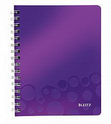 caiet-de-birou-cu-spira-a5-wow-leitz-dictando-80-coli-mov