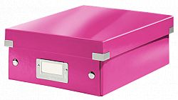 cutie-suprapozabila-leitz-click-store-organizer-mica-roz
