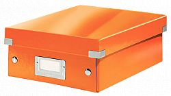 cutie-suprapozabila-leitz-click-store-organizer-mica-portocaliu