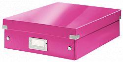 cutie-suprapozabila-leitz-click-store-organizer-medie-roz