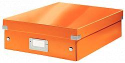 cutie-suprapozabila-leitz-click-store-organizer-medie-portocaliu