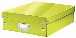 cutie-suprapozabila-leitz-click-store-organizer-medie-verde