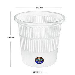 cos-de-birou-pentru-hartii-11-litri-ark-alb