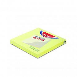 Notes adeziv hartie Noki 76 x 76 mm, lime, 80 file/set
