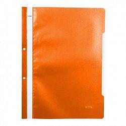 dosar-a4-din-plastic-cu-sina-si-2-gauri-noki-portocaliu
