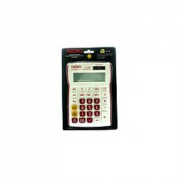 calculator-birou-noki-hcs002-12-digits-alb-rosu