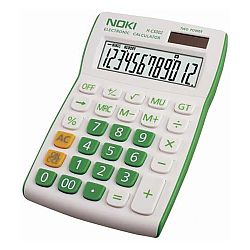 calculator-birou-noki-hcs002-12-digits-alb-verde