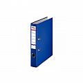 biblioraft-a4-plastifiat-pp-paper-margine-metalica-50-mm-optima-basic-albastru