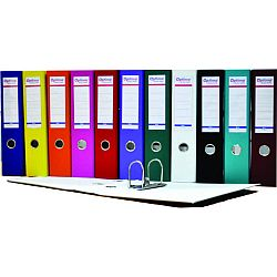 biblioraft-a4-plastifiat-pp-paper-margine-metalica-50-mm-optima-basic-albastru