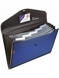 servieta-organiser-snopake-6-compartimente-albastru-negru