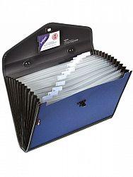 servieta-organiser-snopake-13-compartimente-albastru-negru