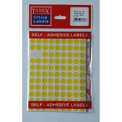 etichete-autoadezive-color-d-10-mm-tanex-galben