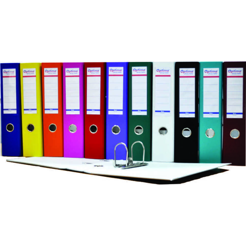 biblioraft-a4-plastifiat-pp-paper-margine-metalica-50-mm-optima-basic-portocaliu